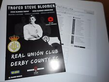 More details for real union  v  derby county 2017/18 steve bloomer trophy ~ oct 3rd **free post**