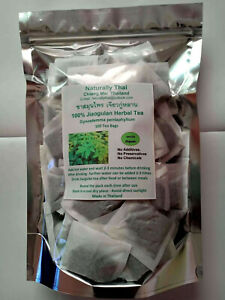 Naturally Thai - Jiaogulan Herbal Tea 100x Tea Bags - Gynostemma pentaphyllum