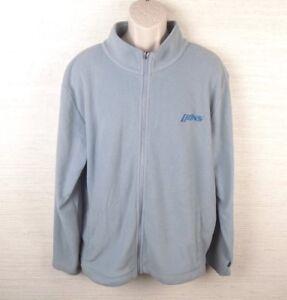 Detroit Lions Mens Fleece Sweater Size Xl Gray Blue