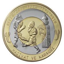 TURKEY TURKIYE 7.500.000 LIRA Hacivat ve Karagöz BIMETAL BI-METALLIC 2000