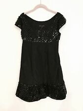 *SALE* NWT BETSEY JOHNSON SEQUINS BLACK ACETATE PARTY DRESS W/ POCKETS-$385--2