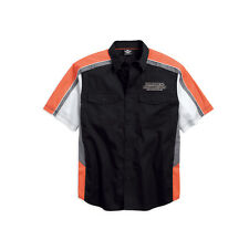 Harley-Davidson Men's Performance Vented Pinstripe Flames Shirt 99046-16VM