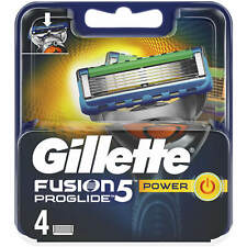 Gillette Fusion5 Proglide Power Razor Blades 4 100% Genuine UK Post   PROMOTION