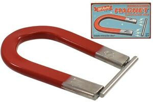 SUPERETRO HORSESHOE MAGNET WITH METAL BAR - TY2177 EXPERIMENT PHYSICS SCIENCE