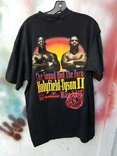 VINTAGE MIKE TYSON EVANDER HOLYFIELD II FURY BITE FIGHT '97 Shirt XL DEADSTOCK