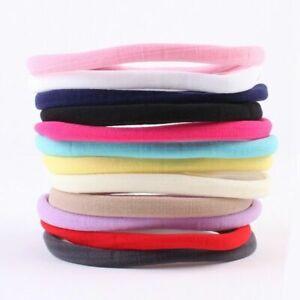 10PCS Baby Girl Headbands Elastic Nylon Kids Women Hair Bands Rope Hearwear Gift