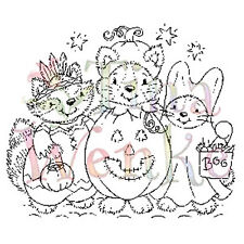 New Stampavie HALLOWEEN CRITTERS Clear Stamp Candy Trick or Treat