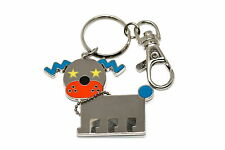 SIMPLE STAINLESS STEEL DOG ROBOT KEYCHAIN KEY RING HOLDER