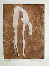Man Ray rare original color etching NU / Nude figure 1969 signed numbered 46/150