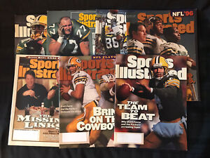 Sports Illustrated - Lot of 7 - Green Bay Packers Covers - 1992, 1996, 1997