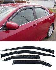 For 12-14 Camry Sedan JDM Side Window Visors deflector shield Rain guard 4Dr