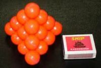 BALL PYRAMID PUZZLE NOVELTY BRAIN TEASER MIND BENDING TRICK MAGIC TOY GAME KIDS