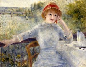 Renoir 1879, Alphonsine Fournaise, Fade Resistant HD Art Print or Canvas
