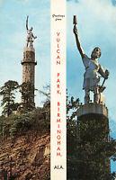 Postcard Vulcan Park Birmingham Alabama Posted 1968