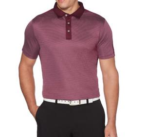 PGA TOUR Golf Shirt Mens 2XL Sun Protection Stretch Short Sleeve Soft Polo Red