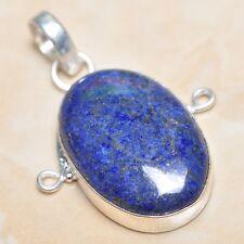 "Handmade Blue Pyrite Lapis Lazuli Jasper 925 Sterling Silver 2"" Pendant #P04604"