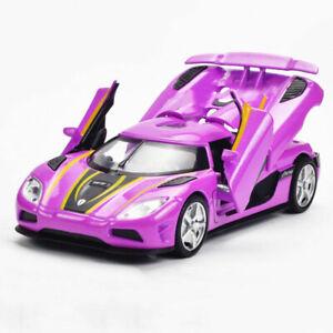1:32 Koenigsegg Agera Model Car Diecast Gift Toy Vehicle Pull Back Cars Purple