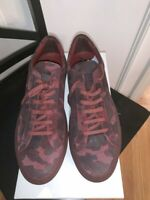 Mens Common Projects Achilles Suede Sneakers Red Camo 42 US 9