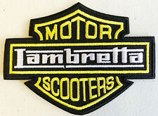 Lambretta Motor Scooters Patch - Embroidered - Iron or Sew On