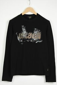 JUST CAVALLI Men's (EU) 48 or ~MEDIUM Long Sleeve Logo Print T-Shirt 35272_GS