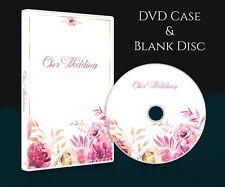 Wedding DVD CD Case with blank DVD disc (4.7Gb). White Single case