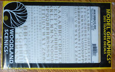 Woodland Scenics #703 Gold -Dry Transfer Alphabet - Railroad Roman - 1/16, 3/32,