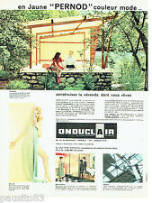 PUBLICITE ADVERTISING 036  1959  Onduclair  plaques véranda jaune Pernod
