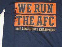 "NFL Denver Broncos ""We Run the AFC""  Nike Blue T-Shirt L/Large NWT!"
