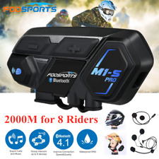 M1-S 8 Riders Group Moto Helmet Intercom Bluetooth Motorcycle Headset Interphone