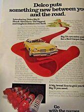 "1976 Oldsmobile Cutlass DELCO BIG D Shocks Original Print Ad 8.5 x 10.5"""
