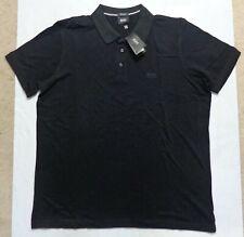 "HUGO BOSS 'Ferrara' Polo Shirt for Men. Size XXL, 46"" Chest. BNWT. Black H6"