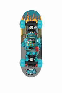 "Xootz Skateboard - Mini  17"" - Blue Robot - Small Board"