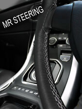 FOR RELIANT SCIMITAR GTC GTE 76+ LEATHER STEERING WHEEL COVER GREY DOUBLE STITCH