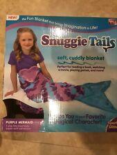 Snuggie Tail Girl Purple Mermaid Super Soft New Cuddly Blanket Wearable Warm Box