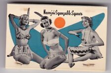 """1950s  NAVAJO  FREIGHT  LINES """" squeezable squaws """"  MATCHBOOK  ad /SCARCE"""