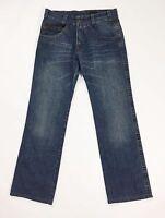 Calvin Klein jeans W31 tg 45 uomo gamba dritta boyfriend comodo blu T1042