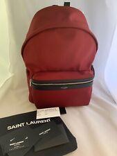 Saint Laurent City Ysl Canvas Backpack