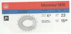 1976 Montreal 21st Summer Olympic Games 7/23/76 Athletics Ticket Stub! XXI
