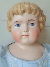 "Antique Alt Beck Gottschalk 24"" German Parian China Head Doll Highland Mary Abg"