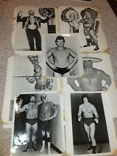 1970s Napolitano Promo Photos Photographs WWF Wrestlers