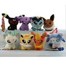 "8pcs Set Pokemon Plush Eevee Evolution Mini Soft Toy Pokedoll approx 5"""