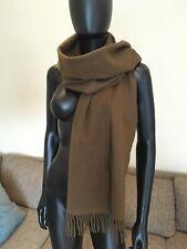 CUSTOMMADE designer, Wool + Cashmere Khaki Scarf, Wide
