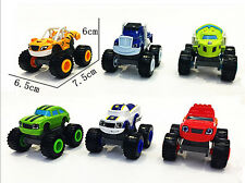 6 Pcs Blaze and the Monster Machines Vehicles Diecast Toy Racer Cars Trucks Kid