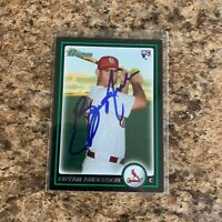 Bryan Anderson Signed 2010 Bowman Draft Rc Auto St. Louis Cardinals