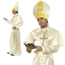 Holy Pope Fancy Dress Costume Pontiff Religious Rome Man Mens Deluxe OS New
