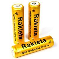 3 x RAKIETA gold 10800 mAh Lithium Ionen Akku 4,2 V  Typ 18650 Li  - ion je 45 g