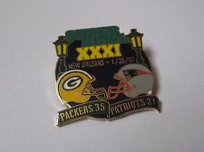Pin's football américain / Super bowl match 26 janvier 1997 Packers Patriots EGF