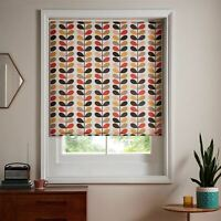 "ORLA KIELY MULTI STEM CREAM ORANGE GREEN 24"" X 64"" - 60CM X 162CM ROLLER BLIND"