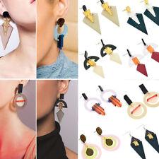 Vintage Women Acrylic Simple Geometry Ear Stud Earring Drop Dangle Hook Earrings