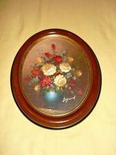 Tableau Peinture huile sur toile Signé Legrand (reproduction) fleurs Vase